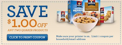 Quaker Instant Win Game 1 2 Any Quaker Coupon