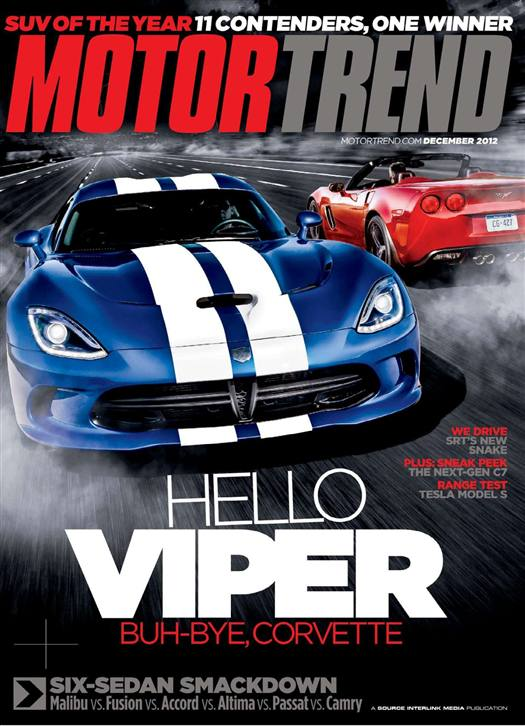 Motor trend magazine 1 year subscription Motor tread