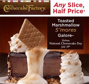 Cheesecake factory deals 2018 Half term holiday deals may 2018