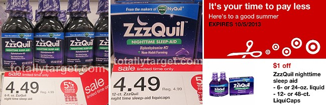 The smaller-sized ZzzQuil products are included in the sale this week    Zzzquil Magazine Ad