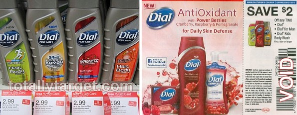 photograph relating to Dial Printable Coupon known as Fresh new $2/2 Dial Physique Clean Increase Coupon \u003d 74¢ -