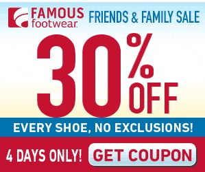 New Famous Footwear 30% Off Printable