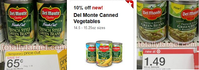 Target: Del Monte Canned Veggies as Low