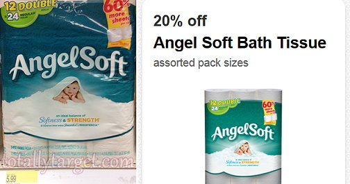 photo about Angel Soft Printable Coupon referred to as Focus: Angel Tender Tub Tissue Simply just $0.16/roll!! Free of charge