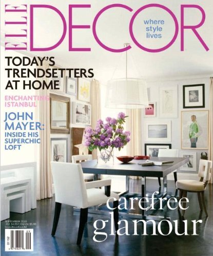 Elle decor magazine 1 year subscription for for Home design magazine subscription