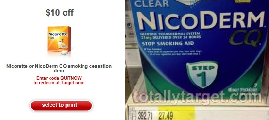image regarding Nicorette Printable Coupon titled Clean $10/1 Nicorette or Nicoderm CQ Printable Concentrate Coupon