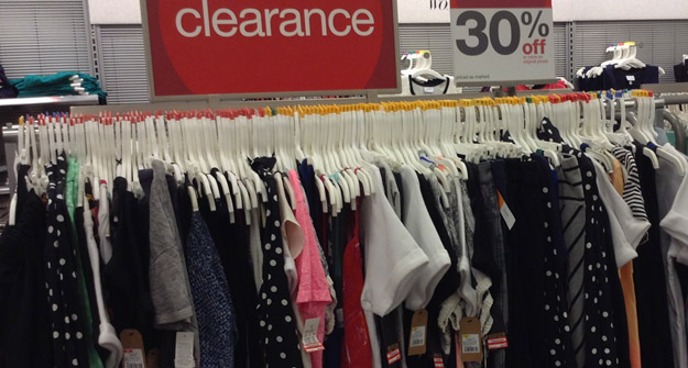 Check your local department for clearance items on Merona clothing items. You can use the Target printable coupon for $3 off any Merona apparel item and