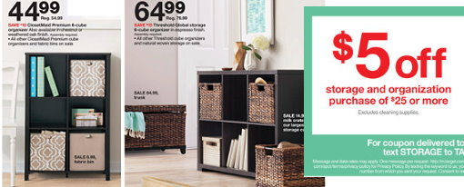 Etonnant Even Better, You Can Stack These New Offers With That Nice $5 Off Storage U0026  Organization Purchase $25+ Target Coupon X1/3 (Also Found In The 12/28  Target Ad ...