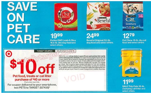 Upcoming $10 Off $40+ Pet Purchase In-Ad Target Coupon Plus Big Roundup Of Matchups ...