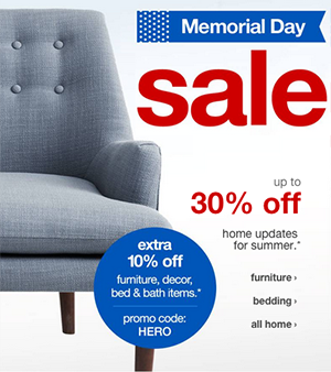 Target Online Furniture Sale Up To 30 Off Extra 10 Off Online Today Only 5 25 5 Off