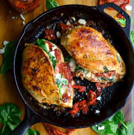 Sundried Tomato Spinach Amp Cheese Stuffed Chicken Totallytarget Com