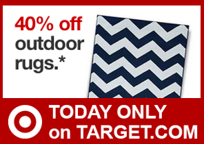 Target: 40% Off Outdoor Rugs Online Today Only 5/21 | TotallyTarget.com