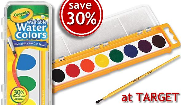 save 30 on crayola washable watercolor paints totallytarget com