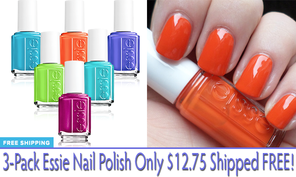 For A Limited Tme Only Tanga Is Offering This 3 Pack Of Essie Nail Polish 12 75 Plus Free Shipping Choose From Two Color Bundles The Lace On
