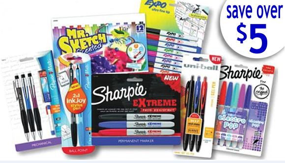 picture about Paper Mate Coupons Printable known as Earlier mentioned $5 within just Refreshing Printable Coupon codes for Again-towards-College or university Products