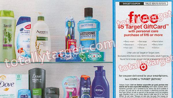 personal care target coupon