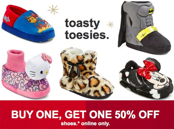 Target: B1G1 50% Off Kids' Slippers