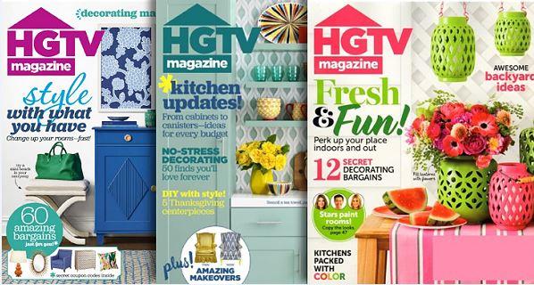 Photo of HGTV Magazine Deal covers