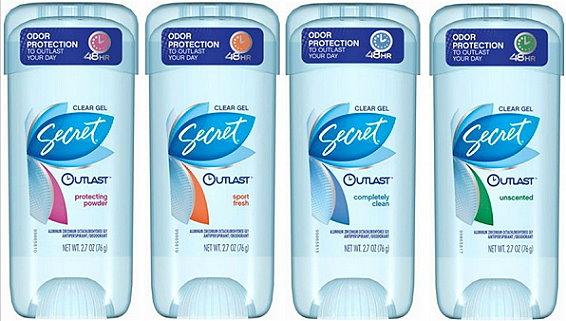 Secret Deodorant as low as 74¢ at Target Starting 1/24
