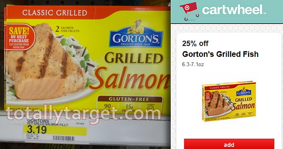 New high value stack on gorton s grilled fish fillets for Gorton s fish coupons