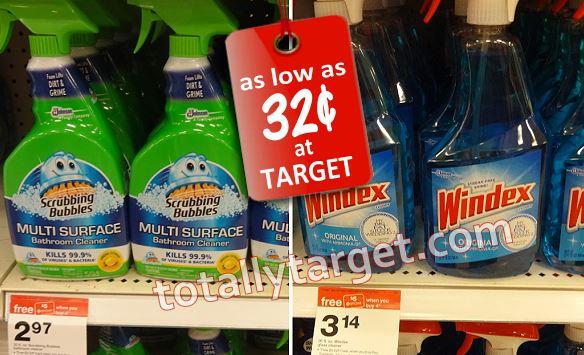 scrubbing bubbles windex