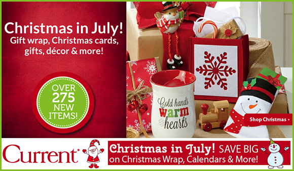 current catalog is celebrating christmas in july with nice savings for a limited time only you can save up to 25 on wrapping paper calendars - Current Christmas Cards