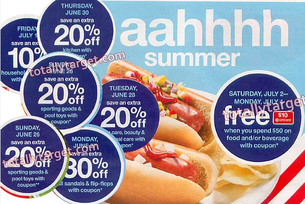 601012bcae760 Next week starting 6 26 Target will be offering up some nice Daily Deals in  store with mobile coupons. (you can go HERE to see the ad scan for 6 26 –  7 2 ...