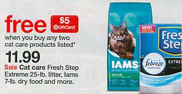 free iams cat food coupons