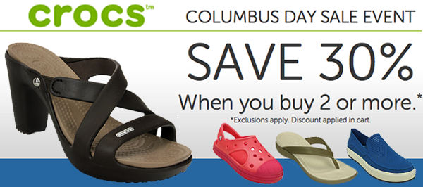 9ded93ceea03b2 Crocs Flash Sale  Extra 30% Off Wyb 2 Or More Pairs