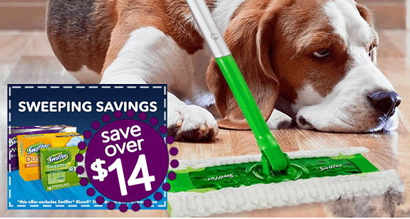 image about Swiffer Printable Coupons named Previously mentioned $14 in just Clean Printable Discount coupons for Swiffer
