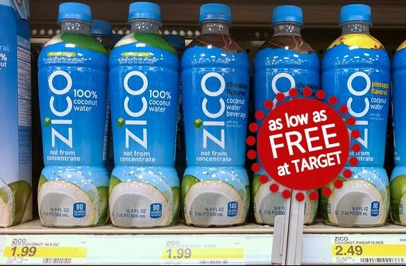 Zico Coconut Water As Low As Free At Target Totallytarget Com