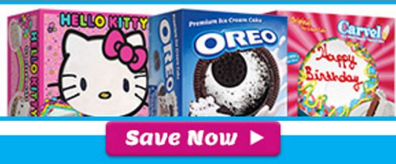 You Can Grab A Nice New Coupon To Save 3 1 Hello Kitty Carvel Or Oreo Ice Cream Cake 46 Oz Larger These Cakes Are Have On Hand For Last Minute