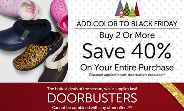 ea38a077a7c3b7 Check out Crocs  Black Friday deals