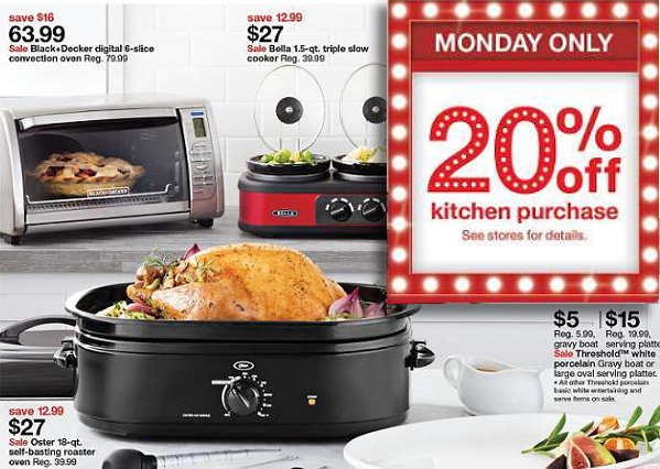 Get An Extra 20% Off Kitchen Items In Store And Online At Target Today Only  Plus Nice Deals