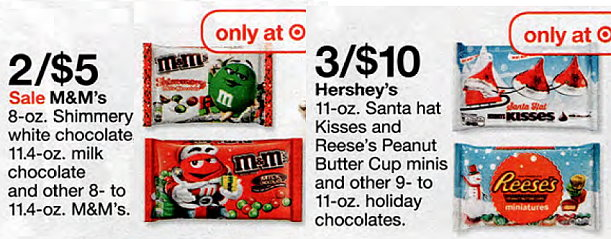 ac74ef7b5bc5a And here s a few nice deals on M M s   Hershey s Holiday bagged Candy with  STacks…
