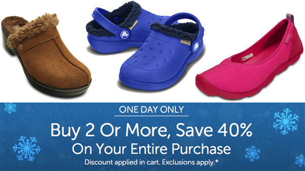 be334957a973b8 Crocs Flash Sale  Extra 40% Off Wyb 2 Today Only