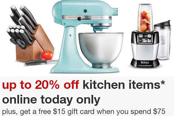 For Today Only  Target Is Offering Up An Extra 20% Off Select Kitchen Items  And Over 600 Of These Items Are Already On Sale!