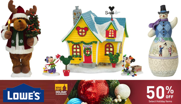 check out lowes for a head start on holiday clearance for a limited time only lowes is offering 50 off select holiday items including both outdoor and - Lowes Christmas Clearance