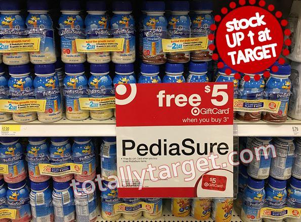 Free 5 Target Gift Card Wyb 3 Pediasure Drinks Nice Stock Up Deal