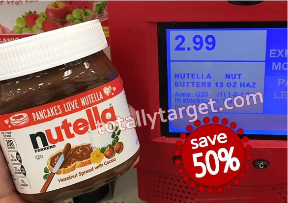 New $1 50/1 Nutella Coupon to Save 50% at Target
