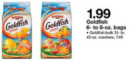 photo relating to Goldfish Printable Coupons named Pepperidge Farm Goldfish Crackers $1.19 At Concentrate