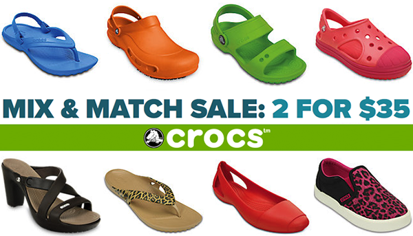 Crocs Sale: Grab 2 Pairs for $35 + FREE