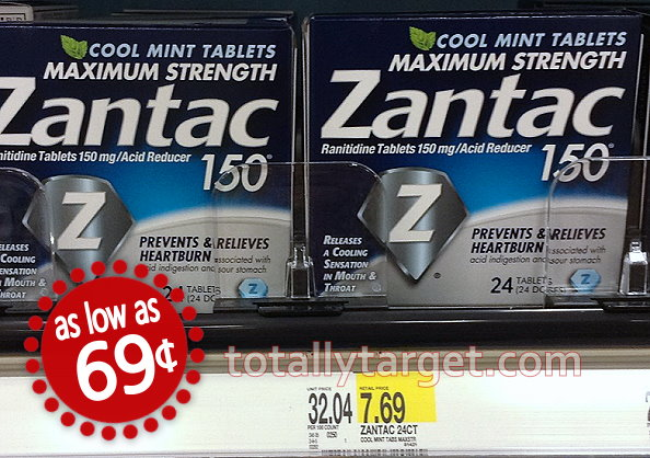 picture relating to Zantac Printable Coupon referred to as Fresh new $5/1 Zantac Printable Coupon \u003d as very low as 69