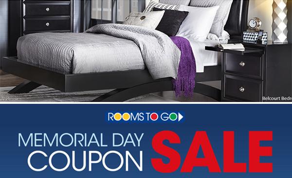 Rooms To Go Memorial Day Coupon Sale Thru 5 29 Totallytarget Com