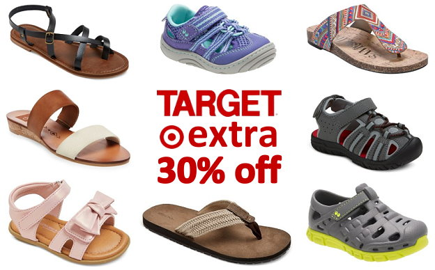 dc5a18a46eb7 Target  Extra 30% Off Sandals for the Whole Family