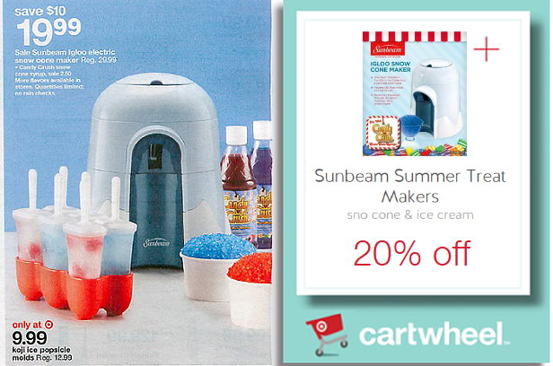Sunbeam Snow Cone Maker Only 1599 At Target Reg 30