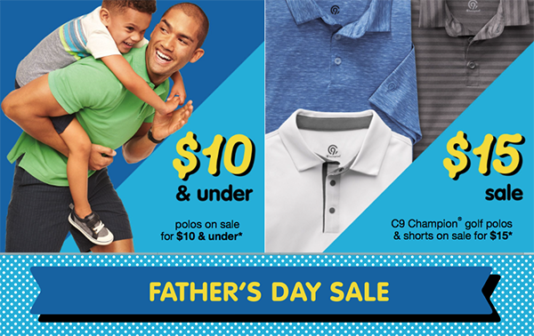 ee3f3f46 Check out Target's Father's Day Sale going on both in stores and online.  They are offering some very nice sales on men's clothing, including shorts,  graphic ...
