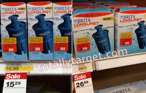 $9.50 in new brita longlast coupons plus target sale   totallytarget.com