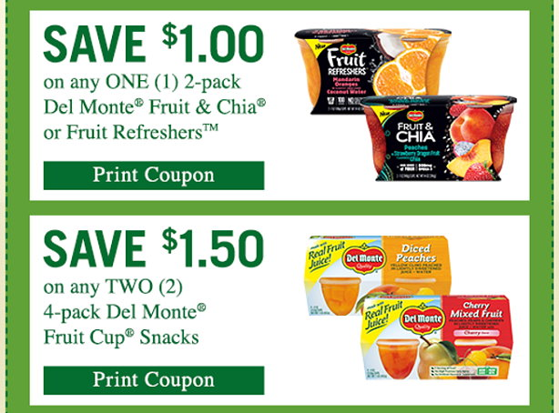 photograph relating to Del Monte Printable Coupons identify $2.50 within Fresh Printable Coupon codes for Del Monte Fruit Cup