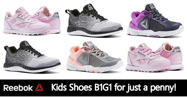 ceef5cca759 Reebok  Kids Shoes B1G1 for 1¢ plus FREE Shipping · On-Line Deals Add  comments. reebok